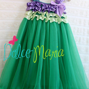 The Little Mermaid Ariel Princess Dress  3T to 7 By Dolce Maria Clothing