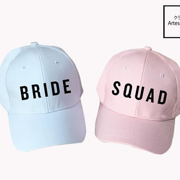 Bride Squad Bridesmaid Hen Party, Bachelorette Party Bridesmaid hats, Bridal Party Caps, Bachelorette Party, Gifts To Bridesmaid, Dad Hats,