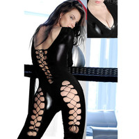 Lingerie  Babydoll Bodysuit Black Sex Products Cosplay Costumes Hollow Bandage Teddies