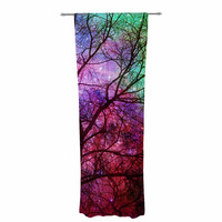 """Suzanne Carter """"Starry Night"""" Purple Pink Decorative Sheer Curtain"""