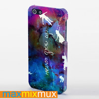 Peter Pan Quotes, Never Grow Up iPhone 4/4S, 5/5S, 5C Series Full Wrap Case