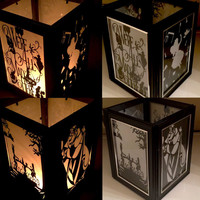 Alice in Wonderland Inspired Lantern