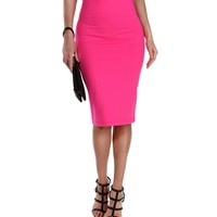 Pink Its My Time Pencil Skirt