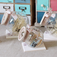 Creative Glass Decoration Couple Birthday Gifts Storage Sealed Cans [6282787590]