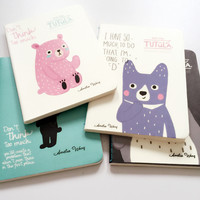 H17 Kawaii Totoro Cute Tutula Bear Portable Line Notebook Writing Paper Planner Student Gift School Office Supply Stationery