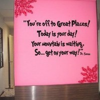 Dr seuss You're off to great places... Wall art vinyl letters decals love kids bedroom