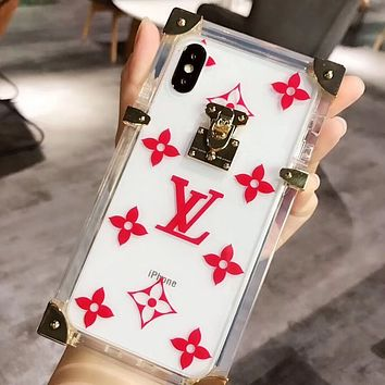 Louis Vuitton LV Fashion iPhone Phone Transparent Cover Case For iphone 6 6s 6plus 6s-plus 7 7plus 8 8plus X iPhone XR  XS XS MAX