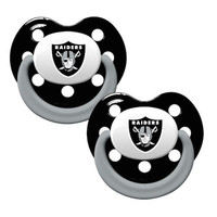 Oakland Raiders 2pk Baby Pacifier