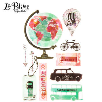 Watercolor Travel 3D Stickers   Hobby Lobby   1339076