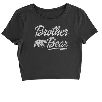 Brother Bear Cub Family  Cropped T-Shirt