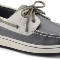 Sperry Top-Sider Sperry Cup 2-Eye Boat Sneaker Gray/OffWhite, Size 7.5M  Men's Shoes