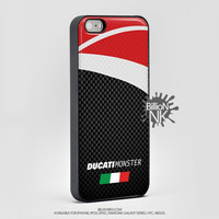 Ducati Monster Carbon Fiber Pattern  Phone Case For Iphone, Ipod, Samsung Galaxy, Htc