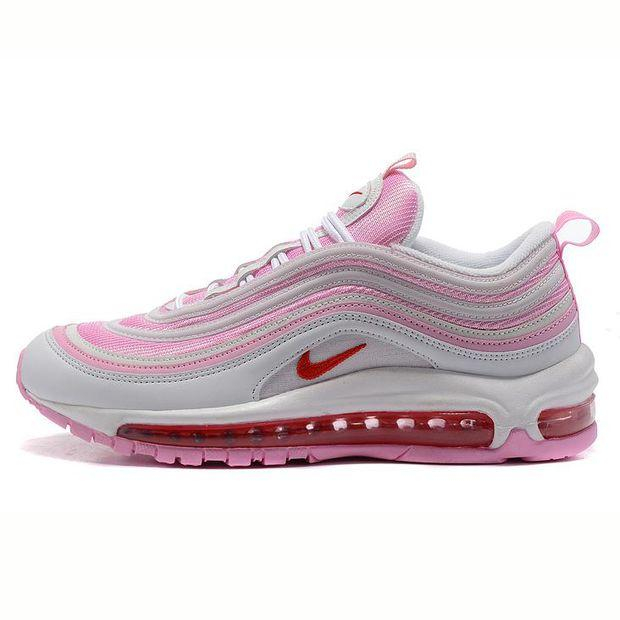 """Image of """"NIKE"""" Trending Fashion Casual Sports Shoes Air section pink white"""