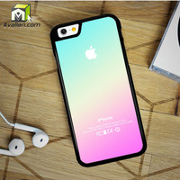 New Pink Aqua Apple Logo Gradient Ombre Silicone iPhone 6 Plus Case by Avallen