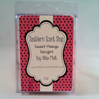 Sweet Mango Delight Scented Soy Wax Tart Melts in Clamshell - 3 oz-