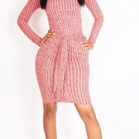 Double Knot Fall Dress Pink
