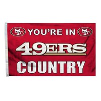 San Francisco 49Ers NFL You're in 49ers Country 3'x5' Banner Flag