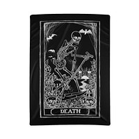 Death Card Tarot Polyester Blanket