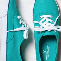 AEO Women's Lace-up Sneaker (Teal)