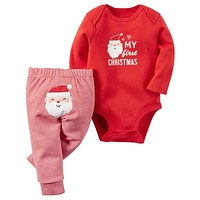 Baby Girl Clothing Sets Christmas Baby Boy Clothes Long Sleeve born Baby Clothes Infant Jumpsuits