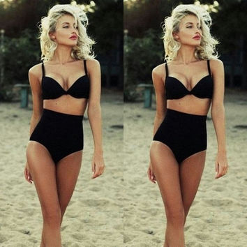 [SUMMER CLEARANCE] High Waist Sexy Bikini Set Swimsuit Ladies Push-up Padded Beachwear = 1956431684