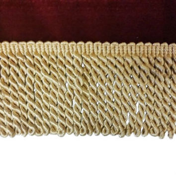 """Luxurious Gold Color Bullion Fringe Designer Trim 3 1/4"""" Long Sold By The Yard for edging curtains/cushions/throws/valances/Craft/Upholstery"""