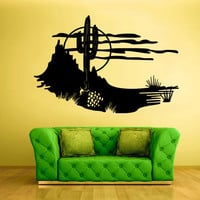 Wall Decal Vinyl Sticker Decals Skyline Cactus Mexico desert Sun (z1554)