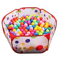 EocuSun Kids Ball Pit Playpen, 39.4-inch by 19.7-Inch with Zippered Storage Bag