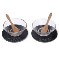 Boston International Tapas Small Bites 6 Piece Condiment Server