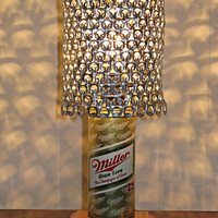 """Vintage Miller High Life """"The Champagne of Beers"""" Beer Can Lamp With Pull Tab Lampshade - The Mancave Essential"""