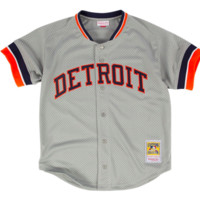 Kirk Gibson Grey Mitchell & Ness Detroit Tigers Authentic BP Jersey