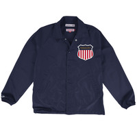 Mitchell & Ness Assistant Coach Jacket in Dark Navy