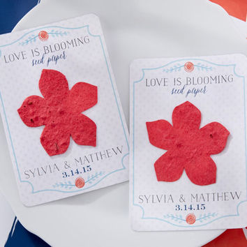 Personalized Blooming Seed Paper Favors (Set of 24)