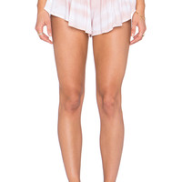 Indah Bee Printed Pleat Short in Blush Snake