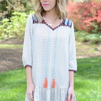 Nari Embroidered Shift Dress by THML