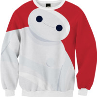 Baymax Sweatshirt created by Alessandro Aru   Print All Over Me