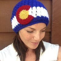 Womens Colorado Flag Beanie