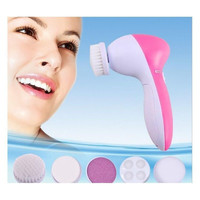 New 5IN1 Face Brush Cleansing Multifunction Electric Ultrasonic Wash Spa Skin Care Massage Face Brushes Facial Cleanser Tool