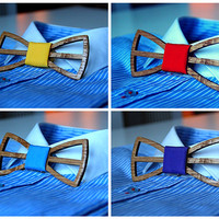 Unique wooden bow tie + many colors to choose. Choose your style. Handicraft gift