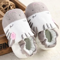 Cartoon Design Fashion Baby Soft Sole Cotton Shoes Infant Girl Toddler Shoes Spring/Autumn Infant Toddler First Walkers Shoes