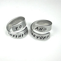 TO INFINITY and BEYOND- Qty Two- Best Friend Rings- I Love You Ring- Infinity Ring- Bff Ring- Relationship Ring