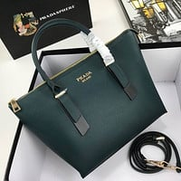 prada women leather shoulder bags satchel tote bag handbag shopping leather tote crossbody 240