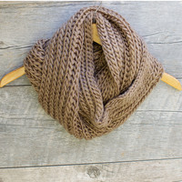 Easy Breezy Infinity Scarf - Taupe