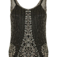 Black Embellished Vest Top - View All