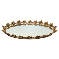 Pre-owned Gilded Rose Vanity Tray