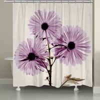Chrysanthemum X-Ray Shower Curtain
