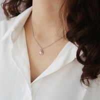 New Arrival Shiny Jewelry Stylish Gift Pearls 925 Bulb Winter Sweater Chain Necklace [11460808340]
