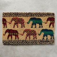 Traveling Herd Doormat by Anthropologie in Multi Size: One Size Rugs