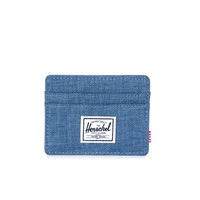 HERSCHEL SUPPLY CO CHARLIE WALLET IN NAVY CROSSHATCH