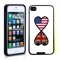 SudysAccessories American British Forever United Kingdom Flag Infinity Forever Thinshell Case Protective iPhone 5 Case iPhone 5S Case
